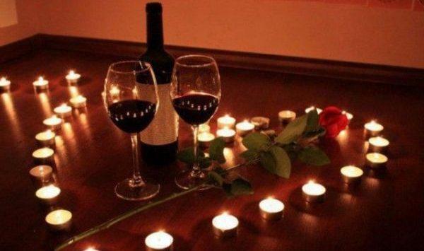 Вино и свечи для приворота
