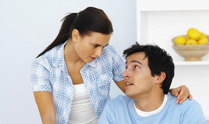 Муж слушает жену